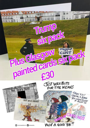 Trump Card 6 pack plus 6 Painted Cards